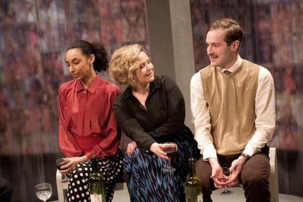 Tessie Orange-Turner, Olivia Darnley and Edward Killingback in Masterpieces. Photo: Bill Prentice
