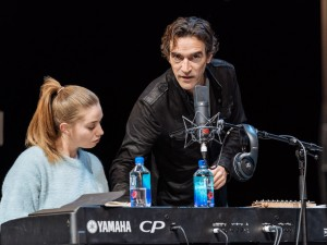 Seána Kerslake and Ben Chaplin in Mood Music. Photo: Manuel Harlan