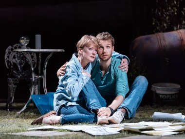 Claire Skinner and Sion Daniel Young in Nightfall. Photo: Manuel Harlan
