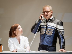 Kirsty Besterman and Harry Enfield in Genesis Inc. Photo: Manuel Harlan