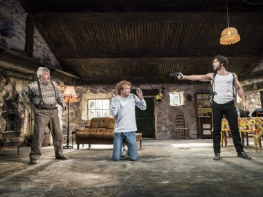 Denis Conway, Chris Walley and Aidan Turner in The Lieutenant of Inishmore. Photo: Johan Persson