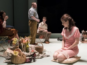 Aisling Loftus and the cast of Aristocrats. Photo: Johan Persson