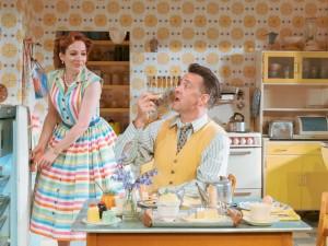 Katherine Parkinson and Richard Harrington in Home, I'm Darling. Photo: Manuel Harlan