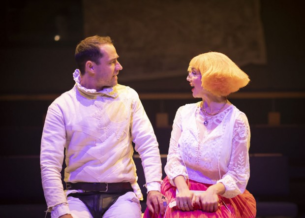 Tim Delap and Florence Roberts in Losing Venice. Photo: Helen Maybanks