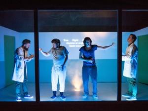 Jim Fish, Adam Bassett, Brian Duffy and Matt Kyle in 4.48 Psychosis. Photo: Becky Bailey