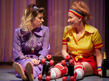 Claire Goose and Dorothea Myer-Bennett in Holy Shit. Photo: Mark Douet