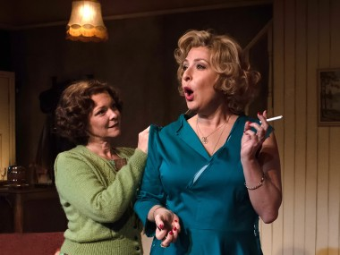 Finty Williams and Tracy-Ann Oberman in Pack of Lies. Photo: Bill Knight