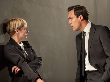 Siân Brooke and Alex Hassell in I'm Not Running. Photo: Mark Douet