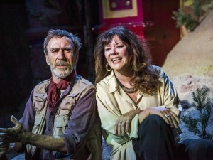 Joe McGann and Josie Lawrence in Love-Lies-Bleeding. Photo: Tristram Kenton