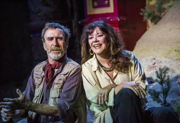 Joe McGann and Josie Lawrence in Love-Lies-Bleeding. Photo: Tristram Kenton