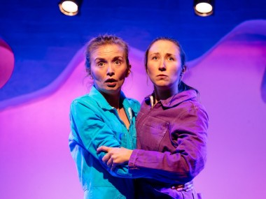 Sophie Melville and Erin Doherty in Wolfie. Photo: Helen Murray