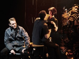 Dan Monaghan, Daryl McCormack and Clare McKenna in Citysong. Photo: Ros Kavanagh