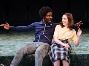 Jonathan Ajayi and Tilly Steele in Strange Fruit. Photo: Helen Murray