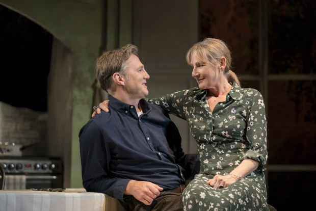 David Morrissey and Lesley Sharp in The End of History.... Photo: Johan Persson