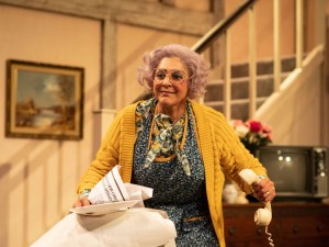 Meera Syal in Noises Off. Photo: Helen Maybanks