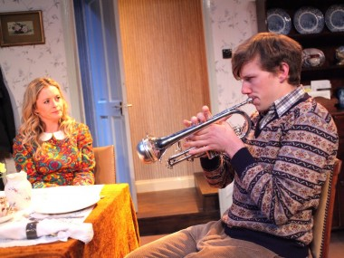 Mia Austen and Sebastian Calver in Go Bang Your Tambourine. Photo: Phil Gammon