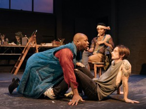 Stefan Adegbola, Hiran Abeysekera and Dickie Beau in Botticelli in the Fire. Photo: Manuel Harlan