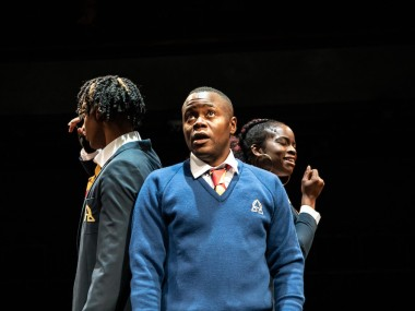 Khai Shaw, Anyebe Godwin and Rachel Nwokoro in Little Baby Jesus. Photo: Ali Wright
