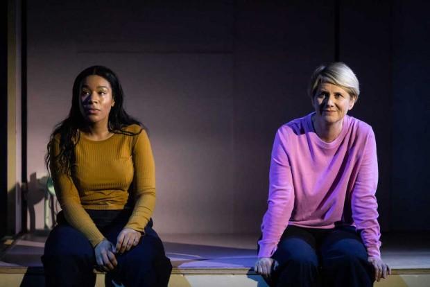 Shona Babayemi and Jackie Clune in [Blank]. Photo: Helen Maybanks