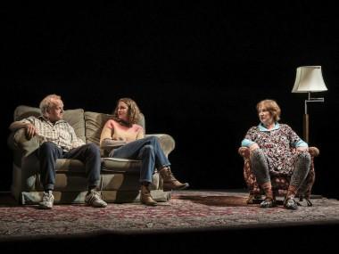 Toby Jones, Louisa Harland and Deborah Findlay in Imp. Photo: Johan Persson