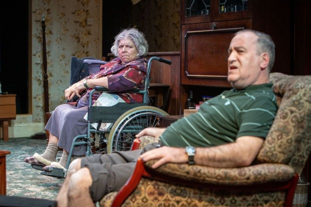 Miriam Margolyes and Mark Hadfield in Sydney & the Old Girl. Photo: Pete Le May