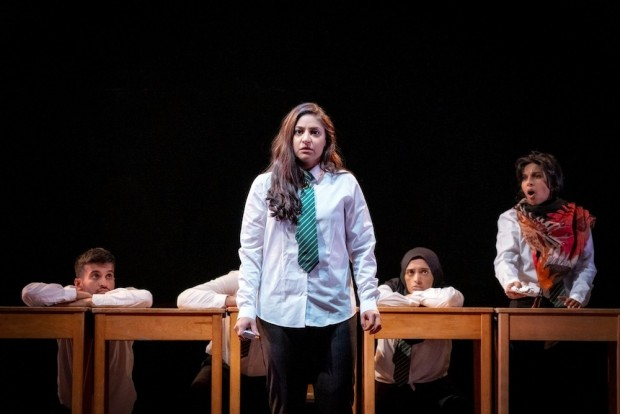 Qasim Mahmood, Gurkiran Kaur, Komal Amin and Keshini Misha in Trojan Horse. Photo: Ant Robling
