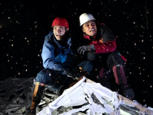 Angus Yellowlees and Josh Williams in Touching the Void. Photo: Bill Knight
