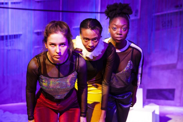 Anna Mackay, Naomi Gardener and Modupe Salu in The Girl With Glitter in Her Eye. Photo: Victoria Double