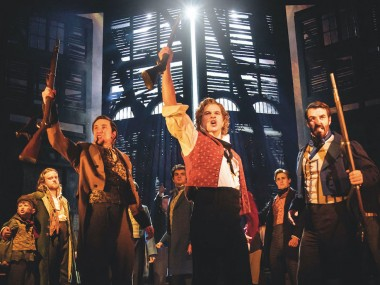 Ashley Gilmour and the cast of Les Misérables. Photo: Johan Persson