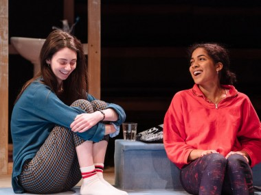Tanya Reynolds and Rebekah Murrell in Scenes with Girls. Photo: Helen Murray