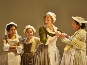 Maxine Peake and Aysha Kala in The Welkin. Photo: Brinkhoff-Moegenburg