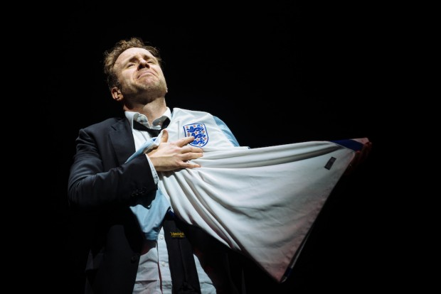 Rafe Spall in Death of England. Photo: Helen Murray