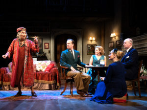 Jennifer Saunders and cast in Blithe Spirit. Photo: Bill Knight