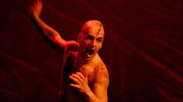 Jonny Lee Miller in Frankenstein. Photo: Catherine Ashmore