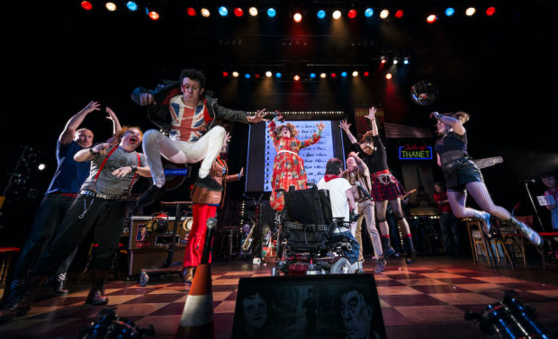 The cast of Reasons To Be Cheerful. Photo: Patrick Baldwin