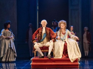 Mark Gatiss and Debra Gillett in The Madness of George III. Photo: Manuel Harlan