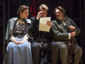 Stephanie Rutherford, Luke Barton and Joseph Derrington in The Sign of Four. Photo: Blackeyed Theatre