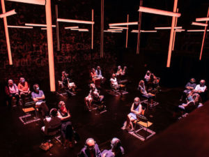 The socially distanced audience in Blindness. Photo: Helen Maybanks