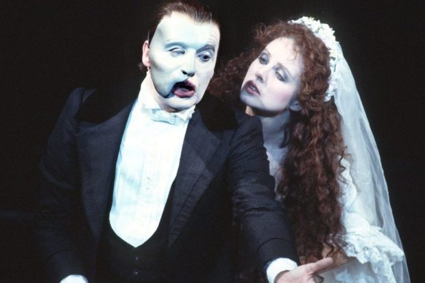 Michael Crawford and Sarah Brightman in the original production of The Phantom of the Opera