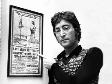 Beatle John Lennon and the Pablo Fanque poster