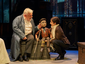 Simon Russell Beale and Patsy Ferran in A Christmas Carol. Photo: Manuel Harlan