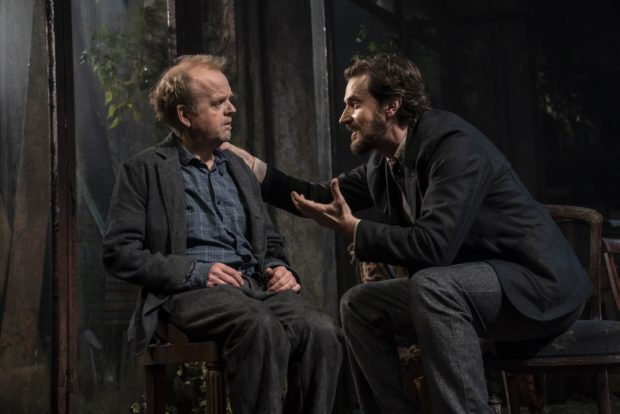 Toby Jones and Richard Armitage in Uncle Vanya. Photo: Johan Persson