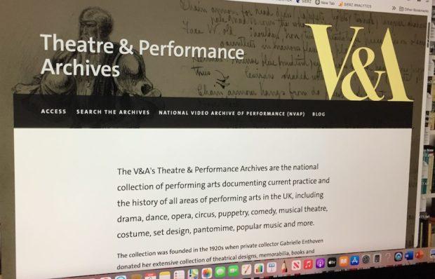 V&A Theatre & Performance website