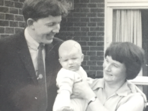 Mark Ravenhill in 1967 with his mother Angela and father Ted. Photo: Mark Ravenhill