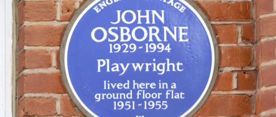 Angry Young Man gets blue plaque