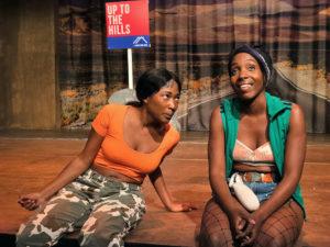 Adelayo Adedayo and Tamara Lawrance in Is God Is. Photo: Bill Knight